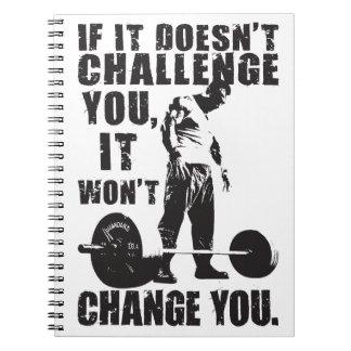 Caderno Espiral Se não o desafia, não o mudará