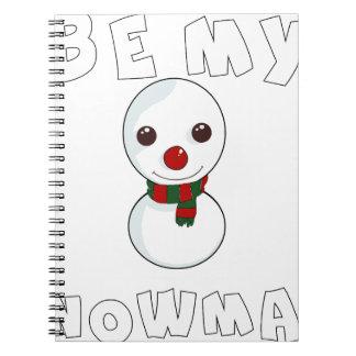 Caderno Espiral seja meu boneco de neve