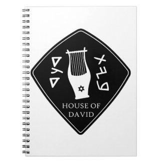 Caderno Espiral Selo da casa de Davi