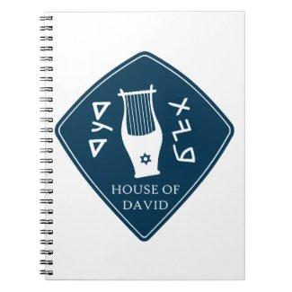 Caderno Espiral Selo da casa de Davi azul