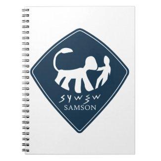 Caderno Espiral Selo de sansao azul