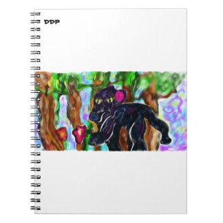 Caderno Espiral selva bonita da pantera preta