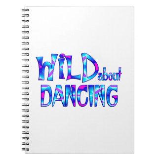 Caderno Espiral Selvagem sobre a dança