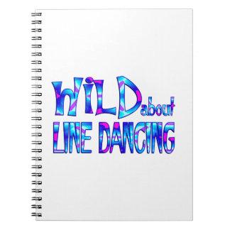 Caderno Espiral Selvagem sobre a linha dança