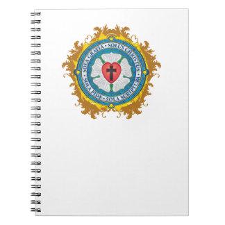 """Caderno Espiral """"Senhor cristão CRISTÃO de Jesus do rosa de Luther"""