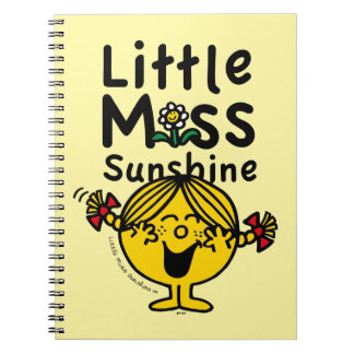 Caderno Espiral Senhorita pequena pequena Luz do sol Riso da