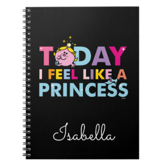 Caderno Espiral Senhorita pequena princesa | que eu sinto como uma
