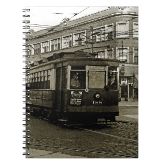 Caderno Espiral SEPIA 1952 da ARTE do TROLE de CHICAGO 63RD E
