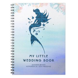 Caderno Espiral Sereia da noiva do casamento sob o mar