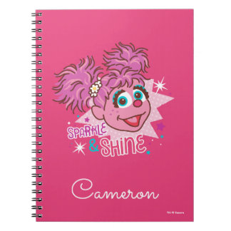 Caderno Espiral Sesame Street | Abby Cadabby - faísca & brilho