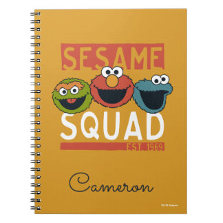 Caderno Espiral Sesame Street - pelotão do sésamo