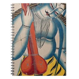 Caderno Espiral Shiva intoxicado que guardara o cordeiro