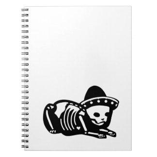 Caderno Espiral Siesta de esqueleto do gato