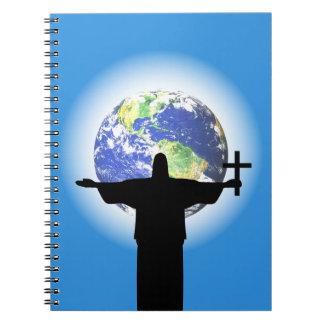 Caderno Espiral Silhueta com uma cruz