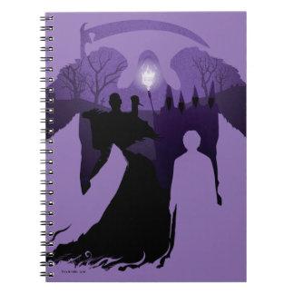 Caderno Espiral Silhueta da morte de Harry Potter |