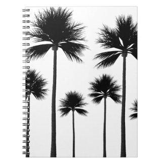 Caderno Espiral Silhueta da palmeira