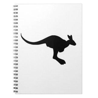 Caderno Espiral Silhueta do canguru