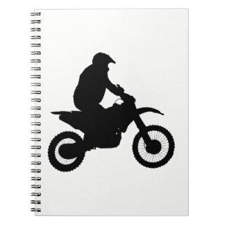 Caderno Espiral Silhueta do motocross