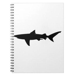 Caderno Espiral Silhueta do tubarão