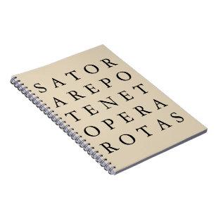 Caderno Espiral Símbolo mágico secreto antigo das rotas de Sator