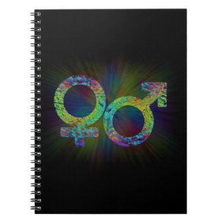 Caderno Espiral Símbolos do género