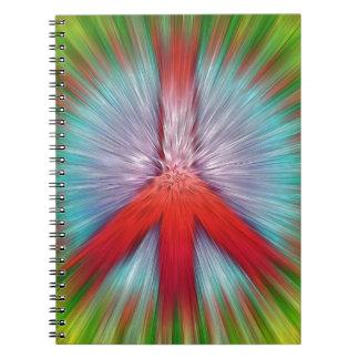 Caderno Espiral Sinal de paz de Starburst