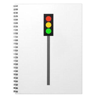 Caderno Espiral Sinal de trânsito em Pólo