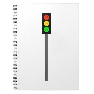 Caderno Espiral Sinal de trânsito temperamental em Pólo