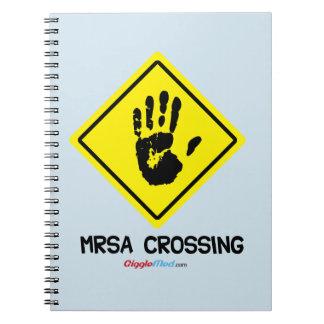 Caderno Espiral Sinal do cruzamento de MRSA
