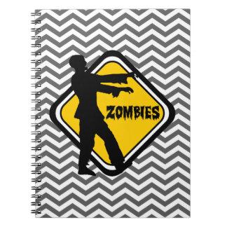 Caderno Espiral Sinal do cuidado para zombis