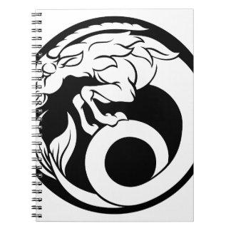 Caderno Espiral Sinal do zodíaco do horóscopo do Capricórnio
