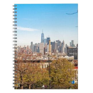 Caderno Espiral Skyline da Nova Iorque