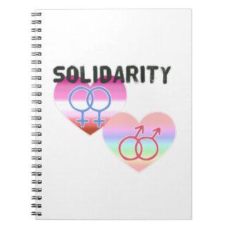 Caderno Espiral Solidariedade alegre lésbica