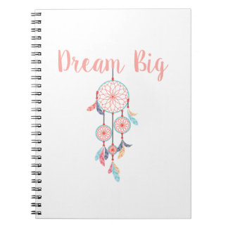 Caderno Espiral Sonho-Grande-Dreamcatcher-pêssego