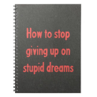 Caderno Espiral sonhos