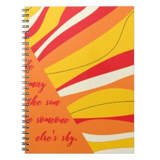 Caderno Espiral sorriso você pode ser o sol em alguém céu dos