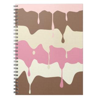 Caderno Espiral Sorvete napolitana de gotejamento