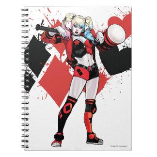 Caderno Espiral Splatter dos corações & dos diamantes de Batman  