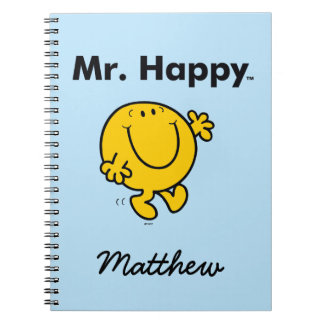 Caderno Espiral Sr. Feliz Ser Sempre Feliz do Sr. Homem  
