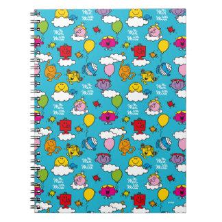 Caderno Espiral Sr. Homem & pássaros & balões pequenos da