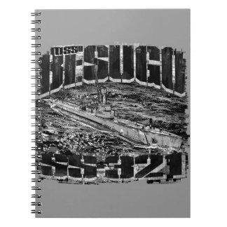 Caderno espiral submarino da foto de Besugo