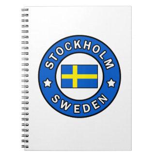 Caderno Espiral Suecia de Éstocolmo