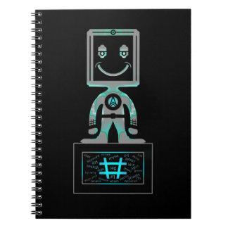 Caderno Espiral Super-herói do Tag da mistura
