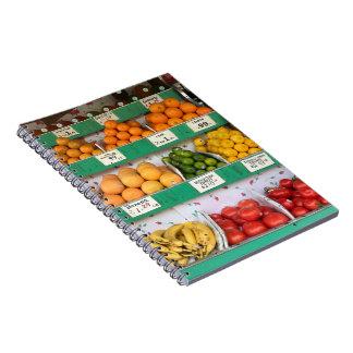 Caderno Espiral Suporte de fruta, avenida de Columbo, Nova Iorque,