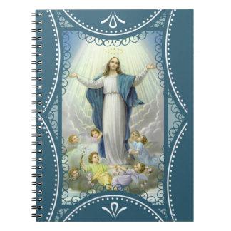 Caderno Espiral Suposição dos anjos abençoados da Virgem Maria