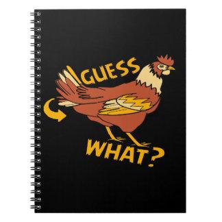 Caderno Espiral Suposição que bumbum da galinha