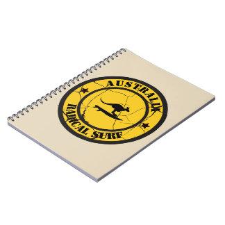 Caderno Espiral Surfar em Austrália
