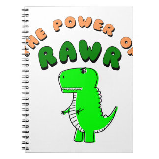 Caderno Espiral T-Rex o poder de RAWR