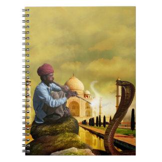 Caderno Espiral Taj Mahal