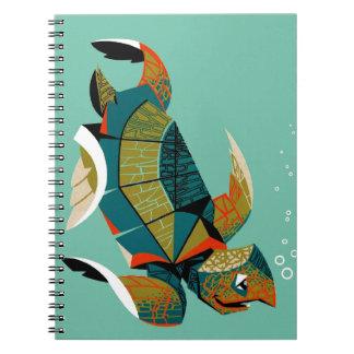 Caderno Espiral Tartaruga de mar australiana animador